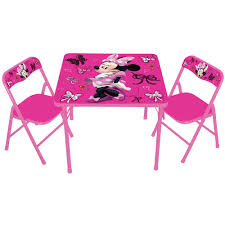 Folding Table Chair Set Home Design Alluring Kids Character Table And Chairs Only Disney