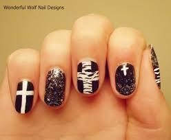 black and white nail art u2013 wonderfulwolf