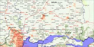 Nigeria State Map by Nigeria Street Maps Travel Nigeria