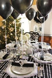 New Years Eve Balloon Decorations by 35 Black And White New Year U0027s Eve Party Table Decorations
