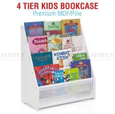 kids white bookcase kids children bookcase sling bookshelf storage shelf furniture display