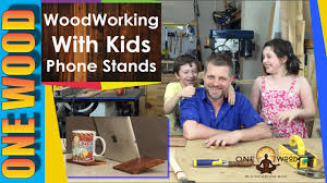 Wood Projects Youtube by Woodworking Projects For Kids Make A Phone Or Tablet Stand From
