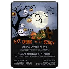 Kids Halloween Birthday Party Invitations by Eat Drink And Be Scary A Spooky Graveyard Halloween Party Invitation
