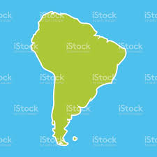 World Continents And Oceans Map by South America Map Blue Ocean And Green Continent Vector Stock