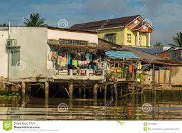 simple homes in the mekong delta vietnam editorial image image