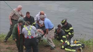 car crashes off bridge abutment into cape cod canal cbs boston
