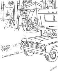 camping coloring pages kid u0027s summer coloring fun