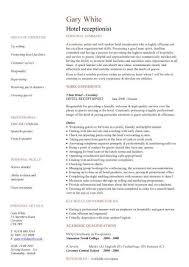 free downloadable cv template hospitality cv templates free downloadable hotel receptionist