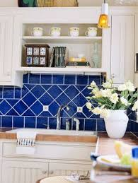blue tile kitchen backsplash inspired tile backsplash calm cool and colorful this