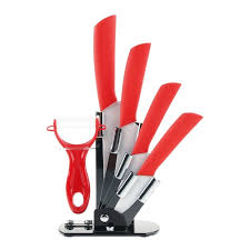 kitchen knive set 6pcs ceramic knives kitchen knife set with peeler