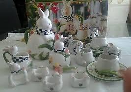 bunny tea set 20pc easter bunny tea set by mercuries w original box wonderful
