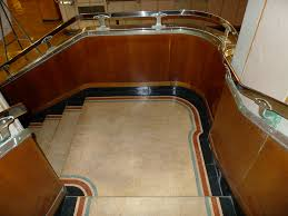 Art Deco Flooring Queen Mary Art Deco Stairs With Original Floors At Least U2026 Flickr