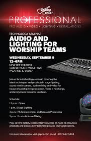 guitar center stage lights guitar center professional to host house of worship technology