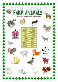Sort Worksheets Alphabetically 116 Free Esl Farm Animals Worksheets