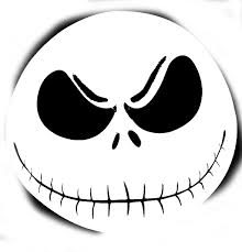 stencil patterns smiling skull pumpkin carving pattern