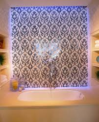 bathroom contemporary vintage decoration bathroom backsplash contemporary vintage decoration bathroom backsplash ideas patterned glass with led lighting in blue color design