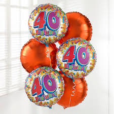 40th birthday delivery uk gift delivery 40th birthday balloon bouquet isle of wight