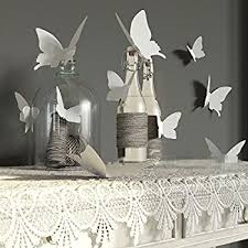 amazon com nykkola white 24pcs 3d butterfly wall stickers decor