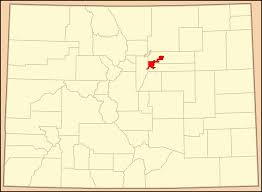 Map Of Colorado State by File Map Of Colorado Highlighting Denver County Colored Svg