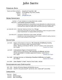 Good Resume Pdf Resume Template For High Graduate Sample Resume For High