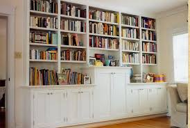 The Custom Carpenter  Bookcases - Family room bookcases