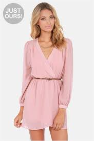sleeve wrap dress stylish blush pink dress wrap dress sleeve dress 47 00