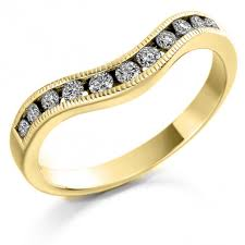 gold engagement rings uk the raphael collection 18ct yellow gold 0 27ct shaped