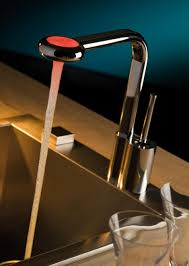 led kitchen faucets led faucet from webert new arcobaleno contemporary kitchen faucet