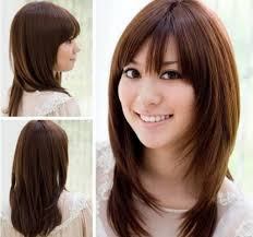 korean haircut for long hair with side bangs korean layered