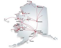 alaska air map alaska route map