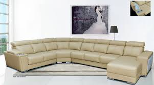 extra wide sectional sofa cream italian leather extra large sectional with cup holders