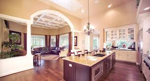large open floor plans kitchen and great room a large open floor plan loved this a