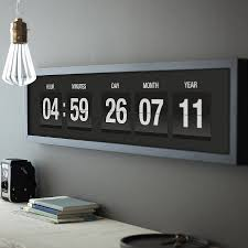 Awesome Clocks by Personalised Vintage Flip Clock Print Flip Clock Flipping And