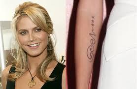 top 10 female celebrity tattoos women u0027s tribe