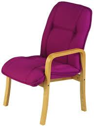 furniture purple velvet desk chair with curved backrest and black