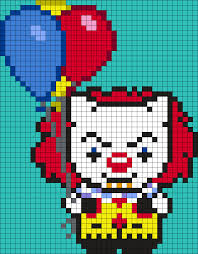pennywise from it hello kitty square by maninthebook on kandi
