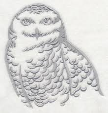 cool silhouette snowy owl design l9339 from emblibrary com