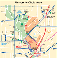Cleveland Ohio Map by Cleveland University Circle Location Map U2022 Mapsof Net