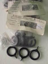 Black Iron Curtain Rod Antique Drapery Rod Co Window Treatment Hardware Ebay