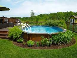 Pool Ideas For Backyards 17 Ways To Pretty Up An Above Ground Pool Ground Pools Backyard