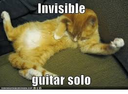 Invisible Cat Meme - invisible guitar solo icanhascheezeurgercom grumpy cat meme on me me
