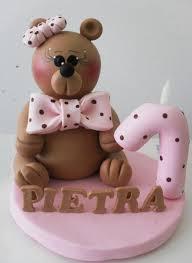 bear pink first birthday cake for jpg