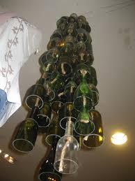 Glass Bottle Chandelier Olive And Love Wine Bottle Chandelier U0026 Hanging Glass Votives