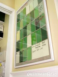 decorative dry erase boards for home paint chip calendar tutorial dry erase calendar paint chips and