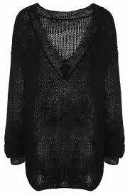 black sweater womens 2018 trendy sleeve scoop collar fitting s black