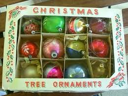 vintage decorations 1950s tree ornaments vintage