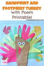 handprint and footprint turkey with poem printable