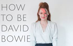 how to be david bowie for halloween costume diy youtube