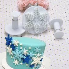 Christmas Cake Decorations Sugarcraft by Aliexpress Com Buy Best Sale 3pcs Set Snowflake Fondant Cake
