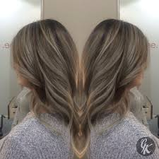 bige color painted highlights and lowlights to create this dark ash beige
